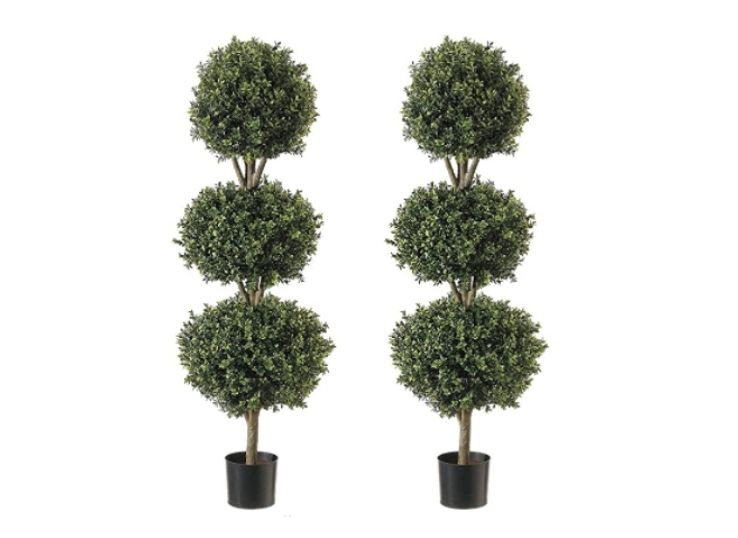 11.Fake Decorative Buxus Shrubs for Home and Garden Décor Replica Plastic Plants Indoor and Outdoor