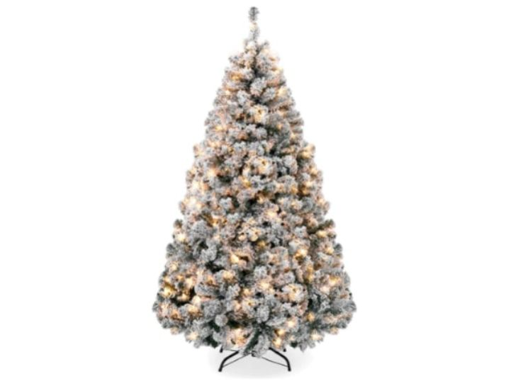A 7.5-FOOT ARTIFICIAL PINE TREE WITH 550 WHITE LIGHTS
