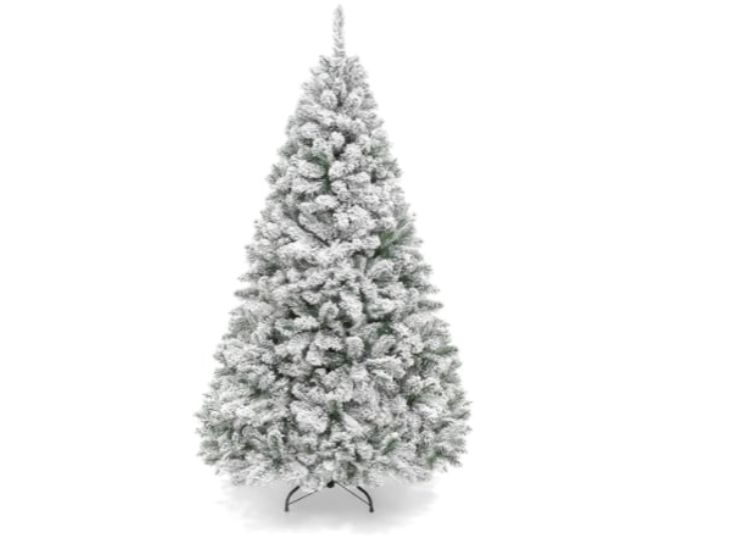 THE 6-FOOT ARTIFICIAL PINE TREE WITH A METAL STAND