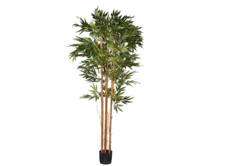 Artificial Trees, nearly natural, 7' tall, bamboo, silk, green, 84 in
