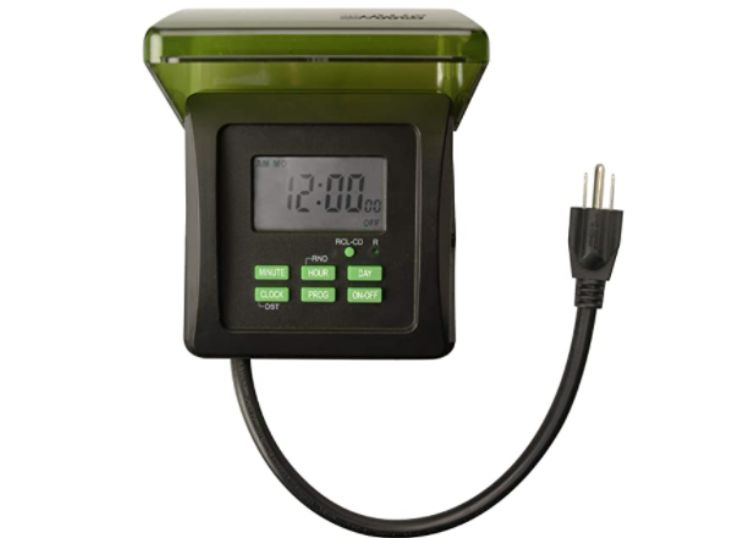 Digital plug-in timer, outdoor, 7-days, by Woods 50015WD
